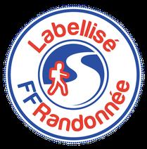 Macaron Itinéraire Labellisé FFRandonnée