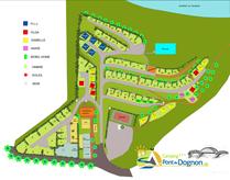 Plan camping Au Pont du Dognon