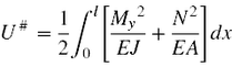 Gleichung für die Formänderungsenergie