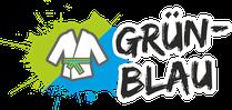 Fachsportschule - Gürtel Logo für Grün-Blau