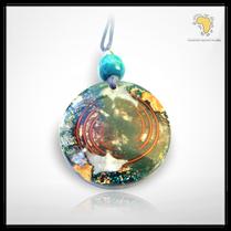 Grande amulette avec turquoise