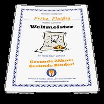 Putz-Urkunde für gute Zähneputzer. Gibt es bei uns in der Zahnarztpraxis! (© Doc S)