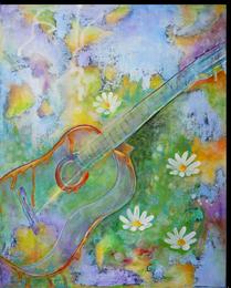 Gemälde, Leinwand, Kunst, art, Augenfreud, Original, Unikat, Acryl, Musik, Gitarre, Malerei, abstrakt, bunt, Margareten