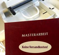 Hardcover Bindung mit Titelprägung für Bachelor oder Master-Thesis