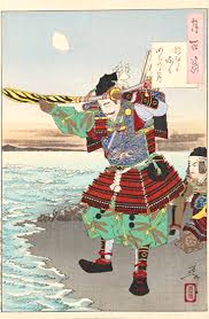 新田義貞(「月百姿 稲むらか崎の明ぼのの月」月岡芳年 作)