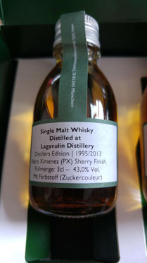 whic.de Sample Lagavulin Distillers Edition 1995 / 2013