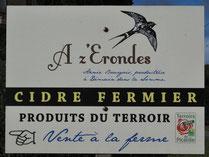 Enseigne de la cidrerie de Démuin (Canton de Moreuil)