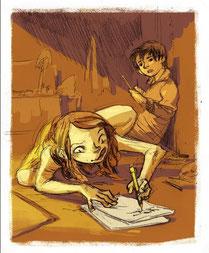 Thomas and Freda - Illustration by Xulia Vicente (Takitakos)