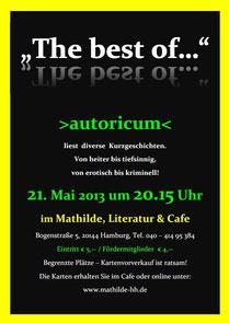 Worte zum Sonntag in der Mathilde Bar mit Liefka Würdemann und Thomas Nast