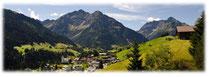 Ruhe, Sonne, Berge, Hirschegg, Ferienwohnung, Kleinwalsertal, direkt am Skilift