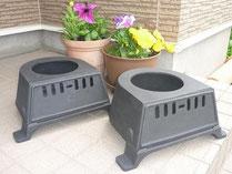 耐熱塗装した灰箱