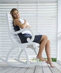 lady on rocking chair