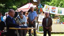 Der LBV-Vorsitzenden Dr. Schäffer eröffnete die Kunstausstellung