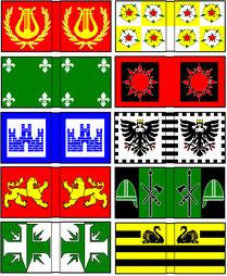 Beispiele für Flaggen