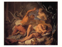 リュンクス王からトリプトレモスを守る女神ケレス