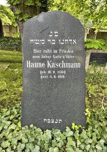 Haune Kaschmanns Grabstein in Bettenhausen