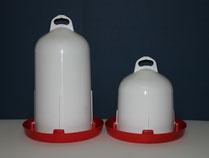Doppelzylinder-Tränke aus Kunststoff