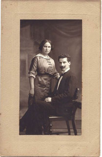 Thekla Levi und Eugen Eschwege, 1913. Fotograf: Eduard Blum, Ffm