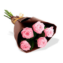 Bouquet de 5 roses !