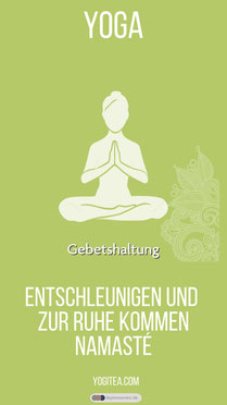 Gebetshaltung - Yoga yogitea.com