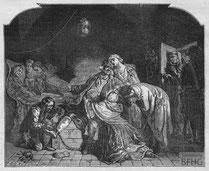 IMA.19.043 Jean Calas nimmt Abschied von seiner Familie (Holzstich, ND [vrmtl. 1865]) / © Sammlung BFHG