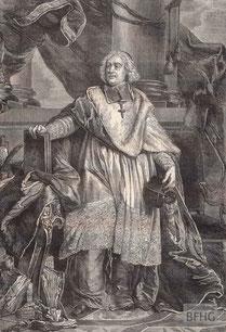IMA.19.041 Jacques Bénigne Bossuet (1627-1704) (Holzstich, ND [vrmtl. 1865]) / © Sammlung BFHG