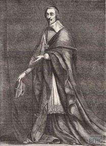 IMA.19.059 Armand-Jean du Plessis (»Kardinal Richelieu«, 1585-1642) (Holzstich, ND [vrmtl. 1865]) / © Sammlung BFHG