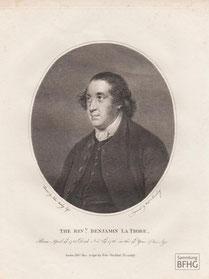 IMA.18.028 Benjamin La Trobe (1728-1786) (Kupferstich, 1795) / © Sammlung BFHG