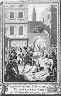 IMA.18.016 Die Bartholomäusnacht von Paris (Kupferstich, 1780) / © Sammlung PRISARD