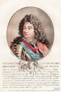 IMA.18.024 Claude Louis Hector de Villars (1653-1734) (Kolorierter Kupferstich, um 1790) / © Sammlung PRISARD