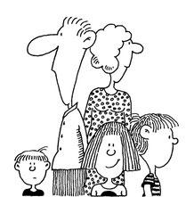 Und das bin ich im Kreis meiner Familie:  Meine Frau Hilde, die Kinder...