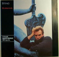 "Pochette de l'album de Sting comprenant le single ""Russians"", 1985 (DR)"
