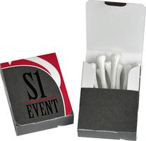 Golf Tees Verpackungen, Golf Tees Box, Golf Tees bedrucken, Verpackung bedrucken