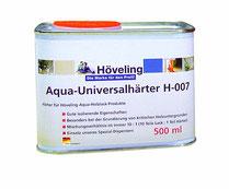 Höveling Aqua-Universalhärter H-007 als Zugabe zum Bergotec Aqua-Treppen&Parkett-Lack für höhere Qualität des Lackfilm's