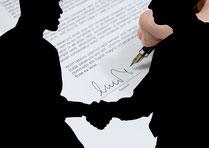 Der Weg zur Unterschrift