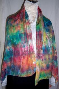 Etole en soie naturelle. foulard, Création  Armelle Soie . fait main en Bretagne,fabriqué en France. couleurs vives multicolores