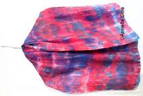 Foulard, soie naturelle,carré, écharpe, grand carré, étole, Armelle Soie peint main, roulotté main, fait, main, fabriqué en France. fait main en Bretagne, multicolore