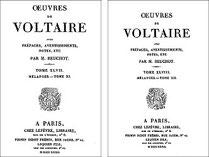 Voltaire (1694-1778) : Fragment sur l'histoire générale. Chine. — Lettres chinoises et tartares à M. Pauw. Firmin Didot frères, Paris, 1832
