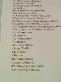 """Замечательный перевод """"Ява"""" - """"Show"""", Voter и Zhevatalinaja rubber тоже очень понравились, а Мороженое в асс. - вне конкуренции!!!"""