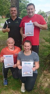 hinten: Sven Munderloh & Arne Winneke, vorn: Dirk Braemer & Larissa Leichsnering