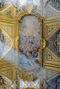 Ceiling in Santa Maria dell'Orto (Rome). By Livioandronico2013 - Own work, CC BY-SA 4.0, https://commons.wikimedia.org/w/index.php?curid=46571209