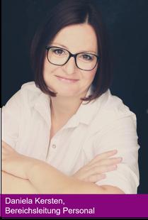 Daniela Kersten, Bereichsleitung Personal