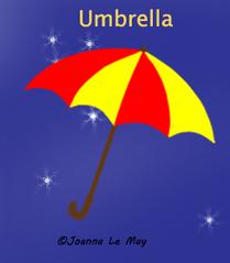 Image d'un parapluie sous-titré en anglais pour apprendre l'anglais aux enfants