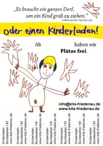 Flyer: Freier Kindergarten-Platz in der Kita Friedenau