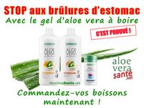 Brûlures d'estomac : Dans ce domaine aussi l'aloe vera fait des miracles. Aloe vera sante et beauté LR
