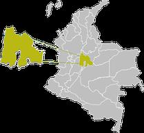 Karte Bogota - Cundinamarca - Kolumbien