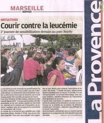 LA PROVENCE course contre leucémie myéloïde chronique lmc france