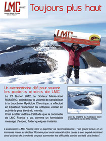 leucemie myeloide chronique conseil scientifique lmc france docteur romero volcan cotopaxi