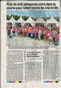 la provence borely lmc france course contre leucemie myeloide chronique