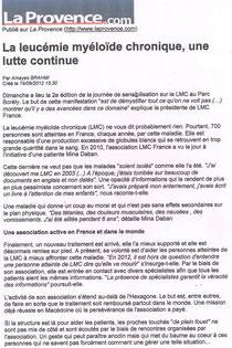 lmc france course contre leucémie myéloïde chronique provence.com